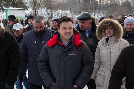 Первый приезд Андрея Воробьева в г. Видное 22 декабря 2012 года. Видное 24