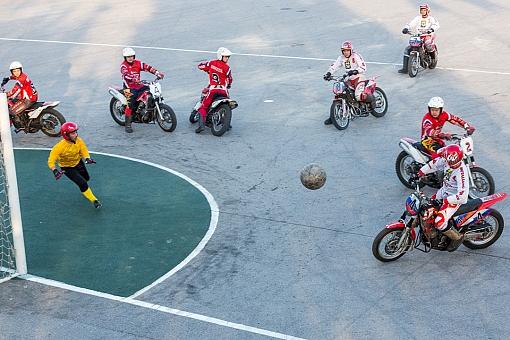 В Видном начались домашние игры команды «Металлург» в рамках Чемпионата России по мотоболу 2015. Фоторепортаж