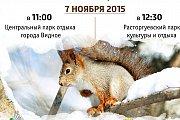 7 ноября в Центральном и Расторгуевском парке пройдет акция «Поможем белочкам и птицам перезимовать!»