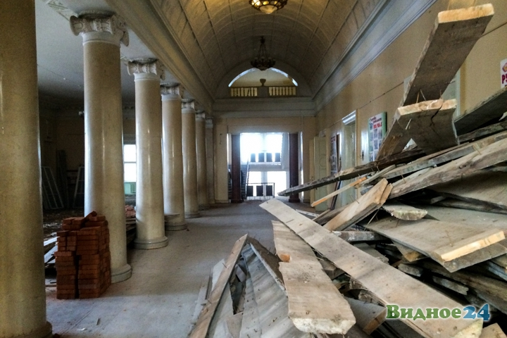 Без проекта реставрации началась реконструкция Дома культуры города Видное. Фоторепортаж фото 56