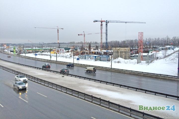 Стройка торгового центра «Видное парк». 2 марта 2016