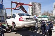 В Видном начали эвакуировать автомобили, припаркованные на  местах для людей с ограниченными возможностями