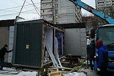 Администрация Ленинского района приступила к сносу незаконных ларьков