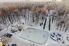 Детском городке Центрального парка города Видное заработал каток