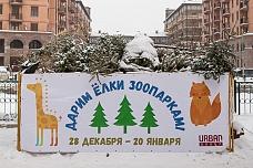 В Видном работает пункт сбора новогодних елок, которые после переработки пойдут на корм животным