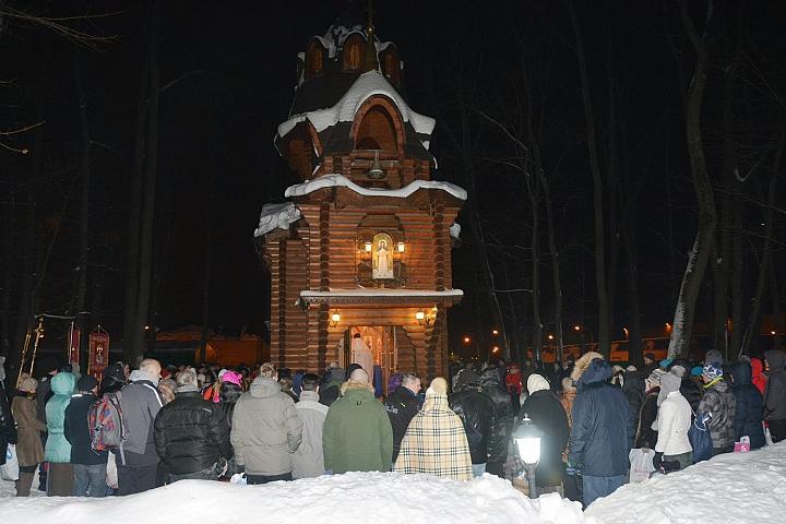 Крещенские купания в деревне Апаринки. Фото: Павел Каращенко