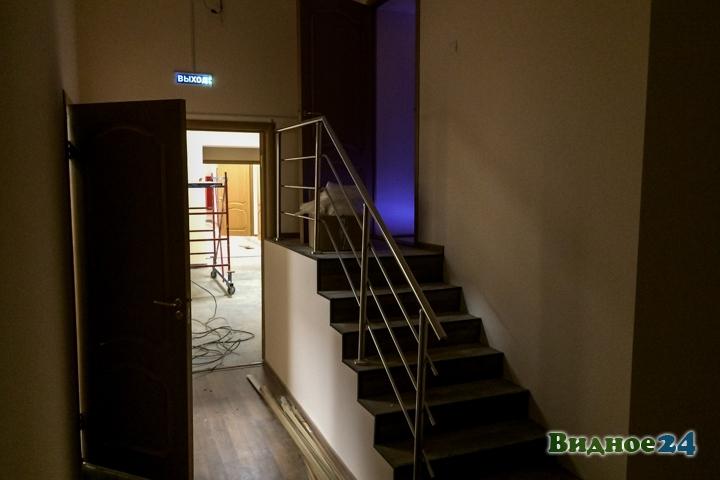 Меньше чем через месяц откроют реконструированный Дом культуры г. Видное. Фоторепортаж фото 51