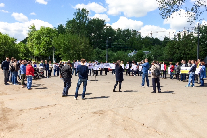 В Видном состоялся митинг обманутых дольщиков ЖК «Булатниково». Видеозапись фото 3