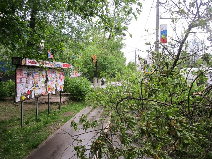 Последствия урагана в Видном и Ленинском районе. Фоторепортаж фото 11