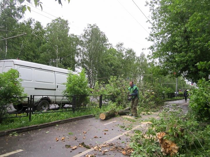Последствия урагана в Видном и Ленинском районе. Фоторепортаж фото 7