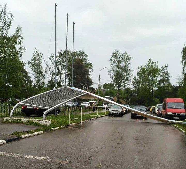 Последствия урагана в Видном и Ленинском районе. Фоторепортаж фото 4