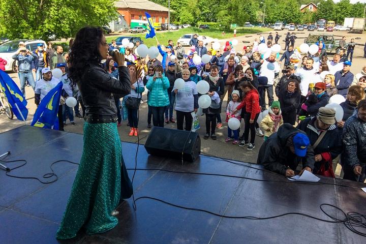 В Видном прошел масштабный митинг-концерт «Экологию детям! Нет локальным очистным сооружениям «Эко-Видное» фото 23