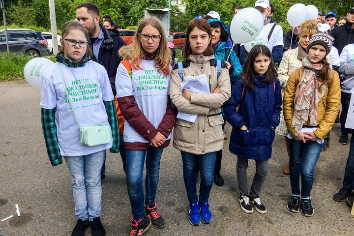 В Видном прошел масштабный митинг-концерт «Экологию детям! Нет локальным очистным сооружениям «Эко-Видное» фото 12