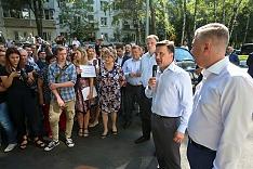 Губернатор Подмосковья Андрей Воробьев посетил город Видное. Поднимался вопрос неработающих очистных на Купелинке