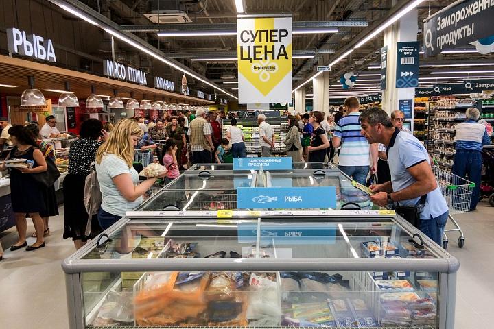 На Березовой улице города Видное открылся супермаркет «Перекресток». Фоторепортаж фото 20