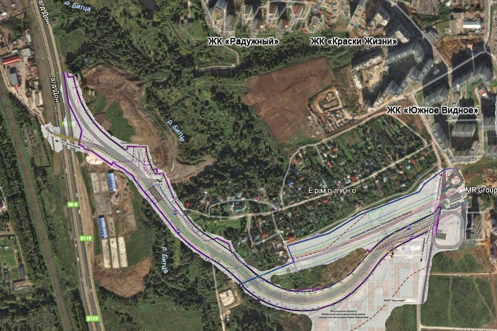 Объявлены сроки начала строительства отдельного выезда из 6-го микрорайона г. Видное на трассу М4 «Дон»