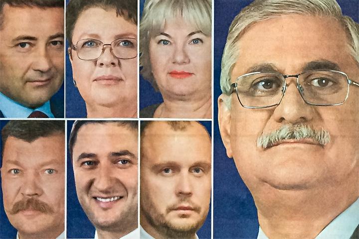 Фотографии из агитационных материалов партии «Единая Россия»