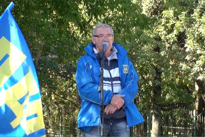 Геннадий Чесноков - организатор митинга