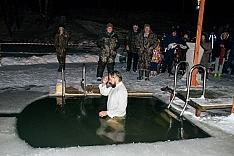 В крещенских купаниях в Ленинском районе приняло участие более 6 тысяч человек. Фоторепортаж