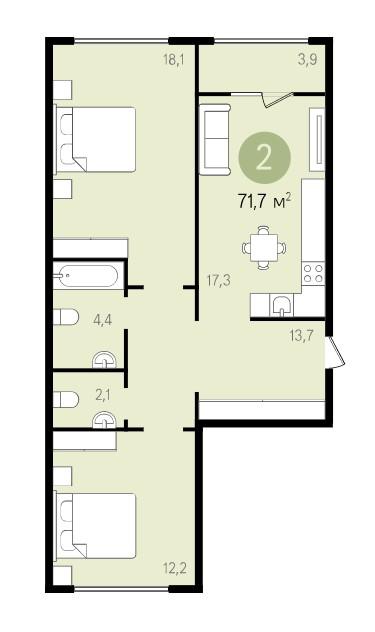 Жители Видного смогут обменять старую квартиру на новую с кухней-гостиной фото 4