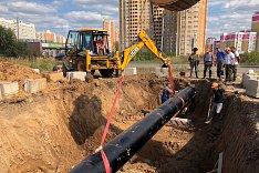 Началось строительство канализационного коллектора от мкр. Купелинка до центральной КНС