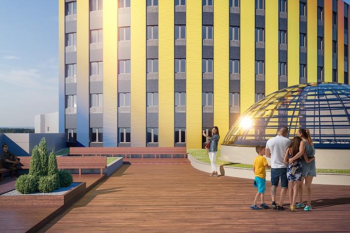 Башня МФК «Видное 9-18» постепенно обретает свой архитектурный облик. Дата открытия