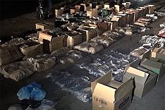 В гаражах на ПЛК сотрудники полиции нашли лабораторию и около полутонны наркотиков