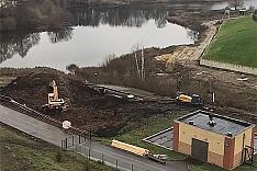 В микрорайоне Купелинка началось строительство канализационно-насосной станции