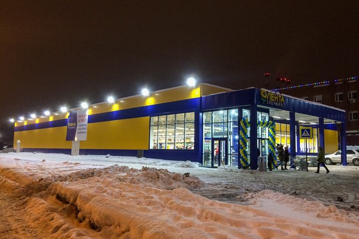В Видном открылся круглосуточный супермаркет «Лента». Фоторепортаж