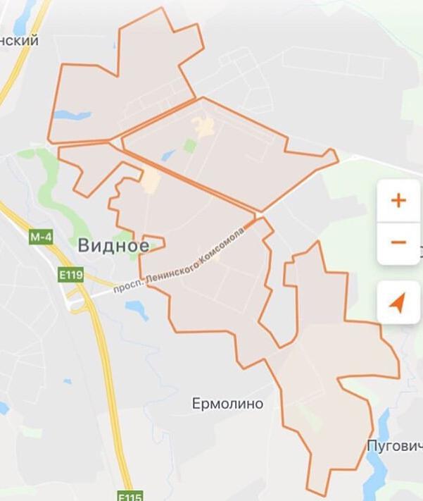 Зона завершения аренды автомобилей «Делимобиль» в Видном