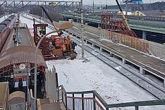 На станции Расторгуево строится временный пешеходный мост. Ограничение движения и сроки открытия