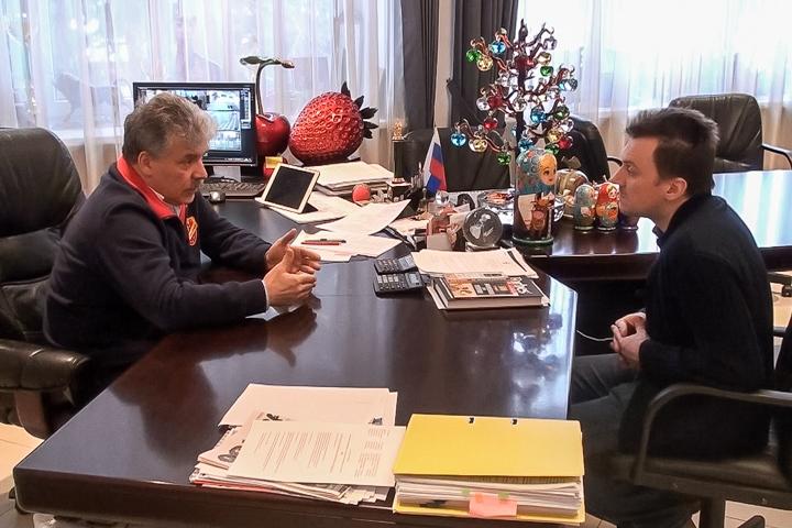 Павла Грудинина теперь лишили и мандата депутата г.п. Видное. Жителей не пустили на заседание. Комментарий Грудинина