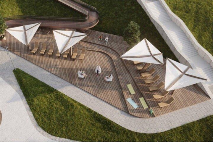 Венцаль показал новую визуализацию реконструкции территории у кинотеатра «Искра»