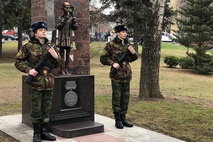 В Видном на Аллее Славы открыт памятник детям-узникам фашистских концлагерей
