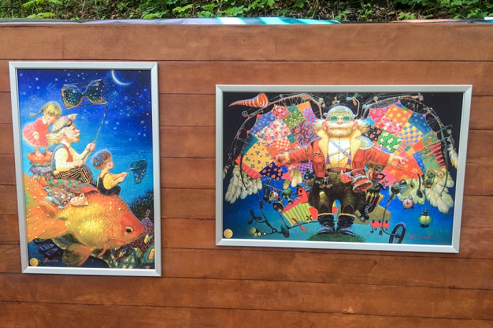 В Тимоховском парке открылась «Галерея под открытым небом» из 54 картин. Фоторепортаж фото 36