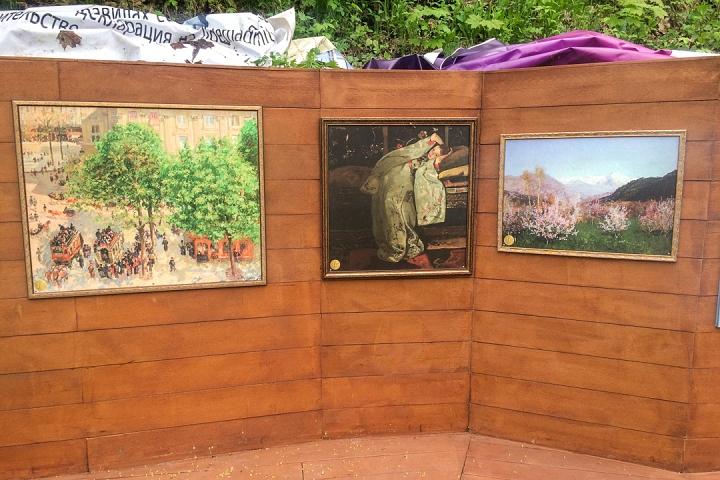 В Тимоховском парке открылась «Галерея под открытым небом» из 54 картин. Фоторепортаж фото 20