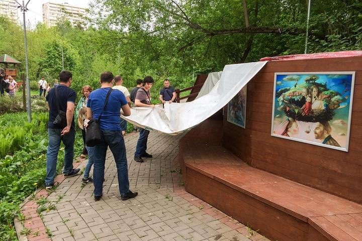 В Тимоховском парке открылась «Галерея под открытым небом» из 54 картин. Фоторепортаж фото 3