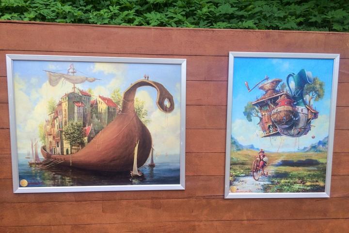 В Тимоховском парке открылась «Галерея под открытым небом» из 54 картин. Фоторепортаж фото 44