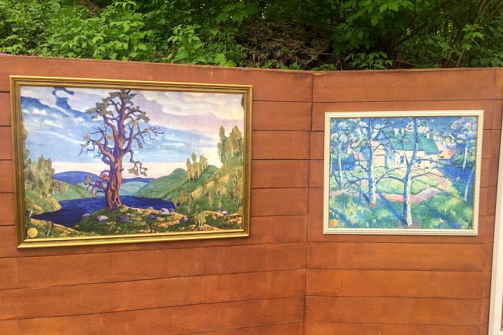 В Тимоховском парке открылась «Галерея под открытым небом» из 54 картин. Фоторепортаж фото 23