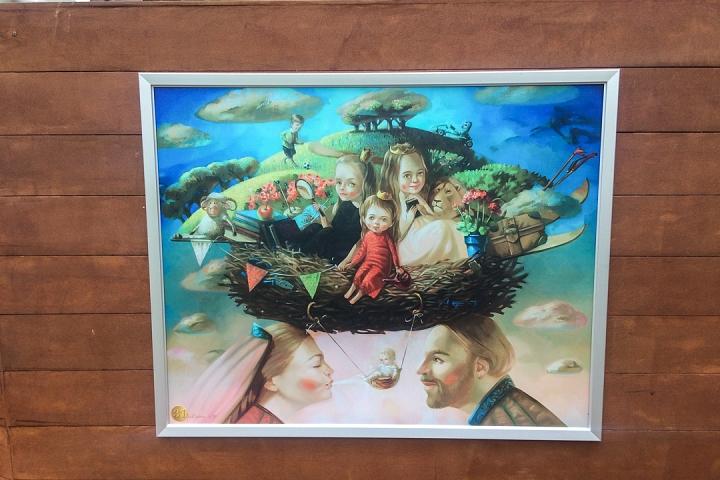 В Тимоховском парке открылась «Галерея под открытым небом» из 54 картин. Фоторепортаж фото 33