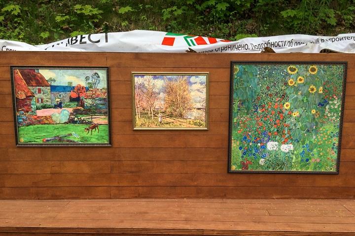 В Тимоховском парке открылась «Галерея под открытым небом» из 54 картин. Фоторепортаж фото 19