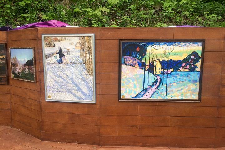В Тимоховском парке открылась «Галерея под открытым небом» из 54 картин. Фоторепортаж фото 21