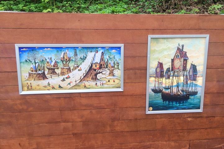 В Тимоховском парке открылась «Галерея под открытым небом» из 54 картин. Фоторепортаж фото 34