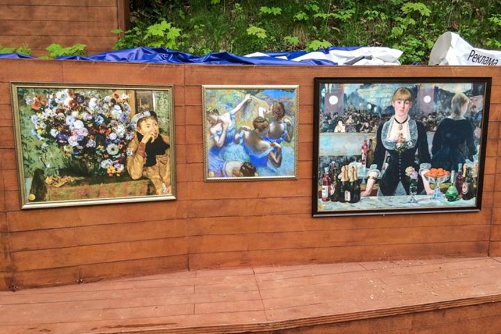 В Тимоховском парке открылась «Галерея под открытым небом» из 54 картин. Фоторепортаж фото 18