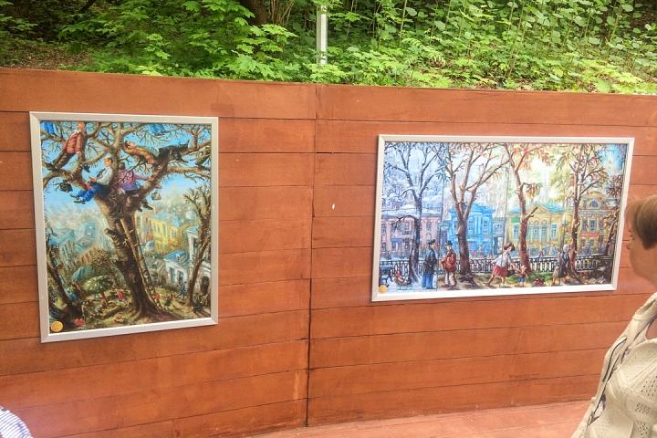 В Тимоховском парке открылась «Галерея под открытым небом» из 54 картин. Фоторепортаж фото 28