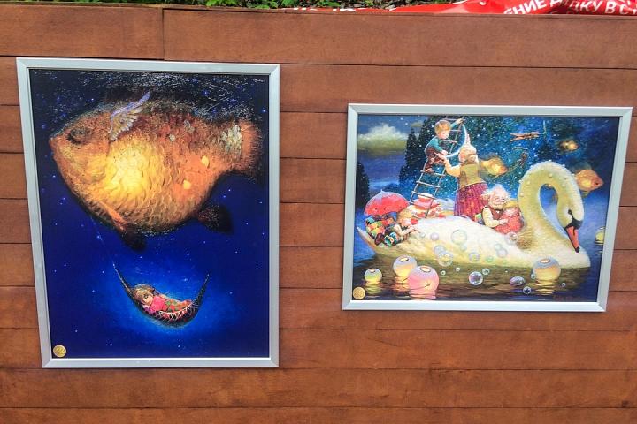 В Тимоховском парке открылась «Галерея под открытым небом» из 54 картин. Фоторепортаж фото 39