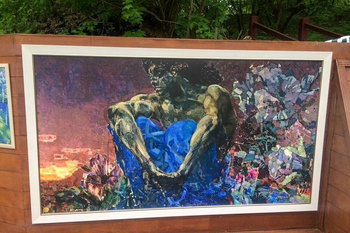 В Тимоховском парке открылась «Галерея под открытым небом» из 54 картин. Фоторепортаж фото 25