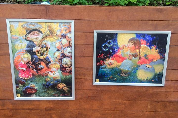 В Тимоховском парке открылась «Галерея под открытым небом» из 54 картин. Фоторепортаж фото 38