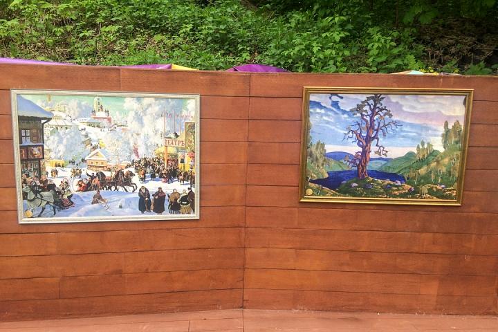 В Тимоховском парке открылась «Галерея под открытым небом» из 54 картин. Фоторепортаж фото 22