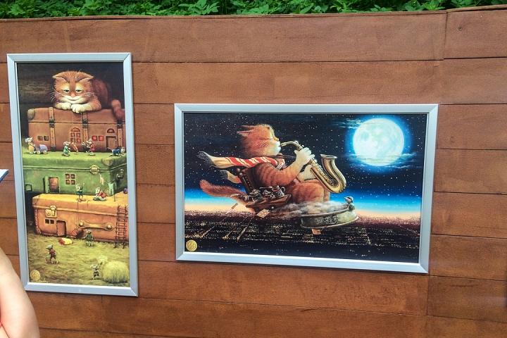 В Тимоховском парке открылась «Галерея под открытым небом» из 54 картин. Фоторепортаж фото 43